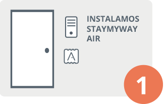 Instalamos STAYmyway Air en el apartamento