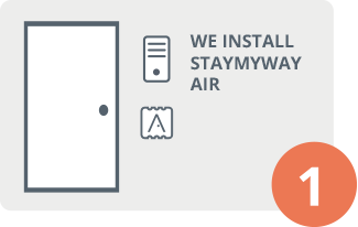 Install STAYmyway Air in the apartment