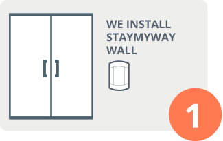 Install STAYmyway Wall at the entrance of communal areas